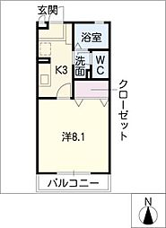 コーポポテト[2階]の間取り