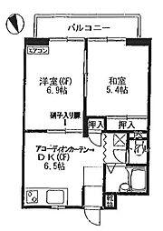 神奈川県横浜市緑区上山1丁目の賃貸アパートの間取り