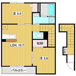 モンターニャ[2階]の間取り