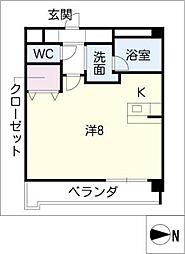 ラシュレ筒井[1階]の間取り