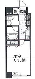 東京都大田区西蒲田3丁目の賃貸マンションの間取り