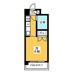 ダイナコート箱崎[1階]の間取り