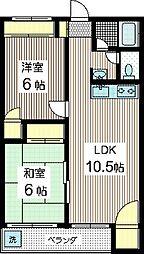 大津マンション[3階]の間取り