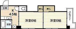 中国ビル[2階]の間取り