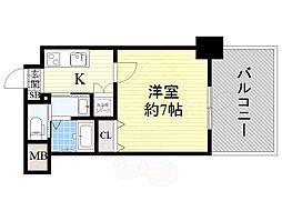 JR鹿児島本線 吉塚駅 徒歩9分の賃貸マンション 5階1Kの間取り