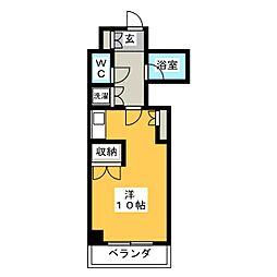 ハイネス本山[4階]の間取り