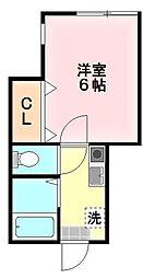 神奈川県川崎市多摩区枡形1丁目の賃貸アパートの間取り
