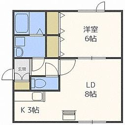 SKクレセントB[1階]の間取り