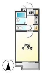 ユング桜山[1階]の間取り