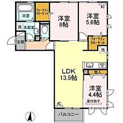 宮崎県宮崎市柳丸町の賃貸アパートの間取り