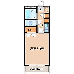 ベルトピア宮崎7[308号室号室]の間取り