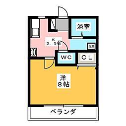 ハウスセラフィム[1階]の間取り