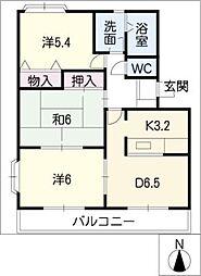 ウッドヒルズA棟[2階]の間取り