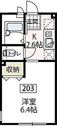 サンシャイン[203号室号室]の間取り