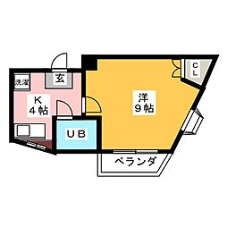 ヤマキエステートII細畑[3階]の間取り