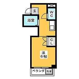 LS杁中[1階]の間取り