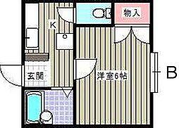 愛知県名古屋市名東区山の手1丁目の賃貸マンションの間取り
