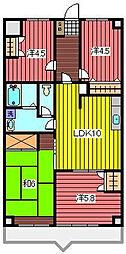 サンライト南浦和2番館[6階]の間取り