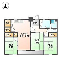 黒川住宅[6階]の間取り