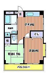 東京都東大和市立野3丁目の賃貸マンションの間取り
