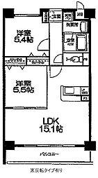 佐賀県佐賀市兵庫北7丁目の賃貸マンションの間取り