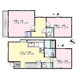 [一戸建] 東京都大田区南馬込3丁目 の賃貸【/】の間取り