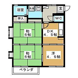 レジデンス畳屋丁[2階]の間取り