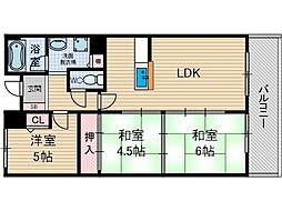 コーポタカイ[2階]の間取り