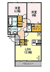 BLOCK-K[2階]の間取り