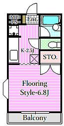 ピアフルール[2階]の間取り