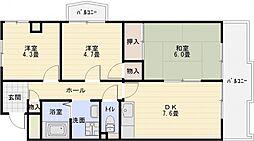 マンションパール[2階]の間取り