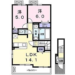 ベノーバB I[2階]の間取り