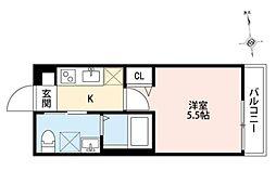神奈川県座間市明王の賃貸アパートの間取り