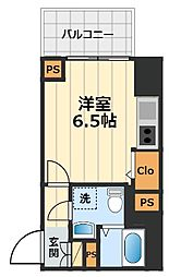 JR中央線 豊田駅 徒歩2分の賃貸マンション 10階1Kの間取り