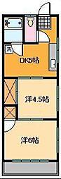 宇田川ハイツ[2階]の間取り
