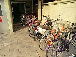 上田マンションの駐輪場