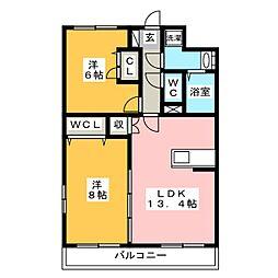 ピュア・ザ北ノ橋[3階]の間取り