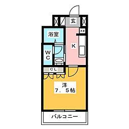 オラシオン丸子新田[1階]の間取り