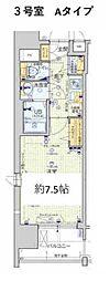 Osaka Metro堺筋線 天神橋筋六丁目駅 徒歩6分の賃貸マンション 2階1Kの間取り