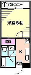 サンブレス峰岡[1階]の間取り