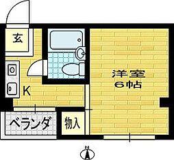 かげたマンション[4階]の間取り