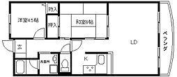 ベルドミール桜ヶ丘[503号室]の間取り