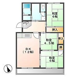 森孝東住宅[3階]の間取り