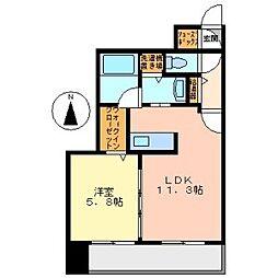 札幌市電2系統 ロープウェイ入口駅 徒歩2分の賃貸マンション 3階1LDKの間取り