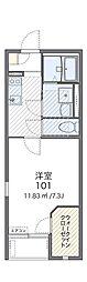 JR片町線(学研都市線) 徳庵駅 徒歩12分の賃貸アパート 1階1Kの間取り