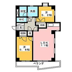 SMY88原[5階]の間取り