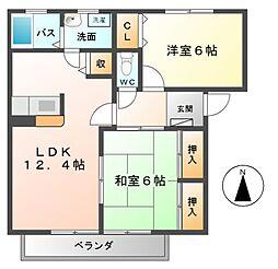 キラニーハイツ[2階]の間取り