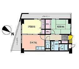 神奈川県横浜市港南区下永谷2丁目の賃貸マンションの間取り