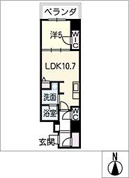ダイワシティ大須[5階]の間取り
