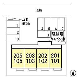 (仮)ウィット北茂呂[202号室]の外観